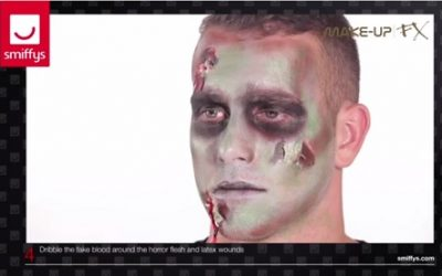 Tutoriel maquillage zombie Halloween