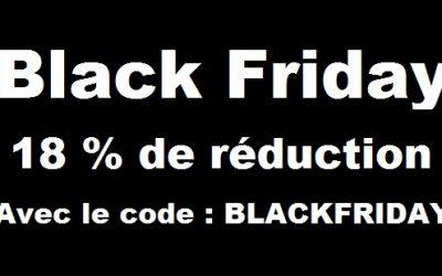 Black Friday 2016 : 18% de réduction sur tout le site
