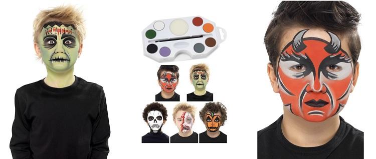 peinture sur visage maquillage et d guisement font la paire led guisement blog. Black Bedroom Furniture Sets. Home Design Ideas