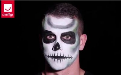 Tutoriel maquillage squelette : Déguisement Halloween pas cher