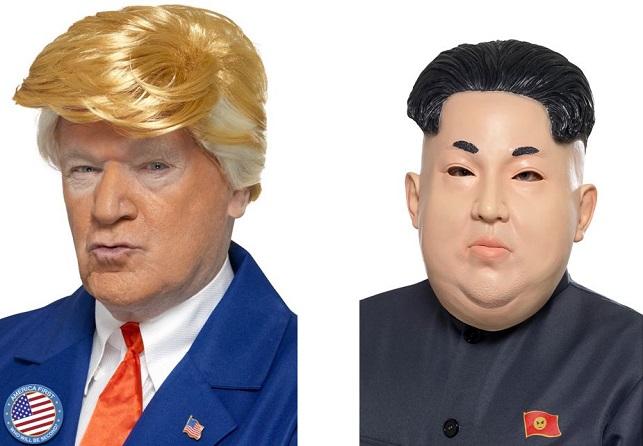 Masque et déguisement de personnalités politiques : Trump vs Kim Jong-un