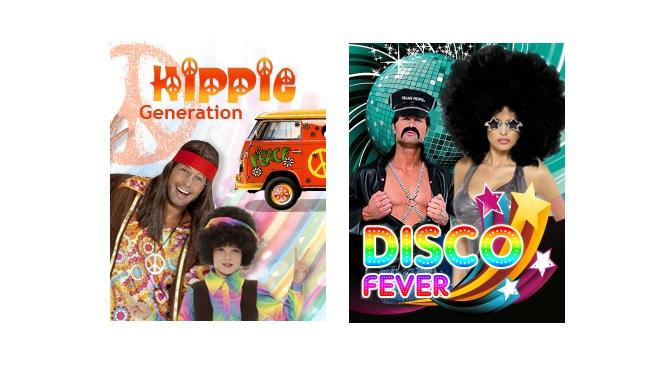Déguisement hippie et perruque disco : Les générations 60 et 70 à l'honneur