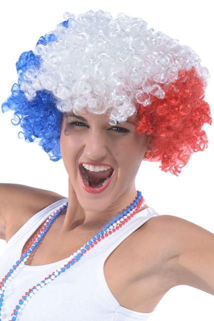 perruque tricolore